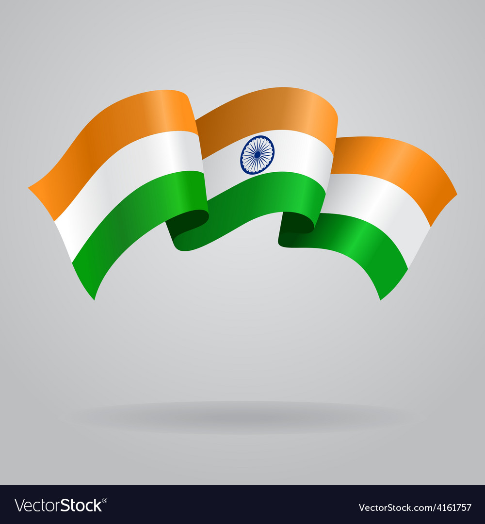 Indian waving flag vector | Price: 3 Credit (USD $3)