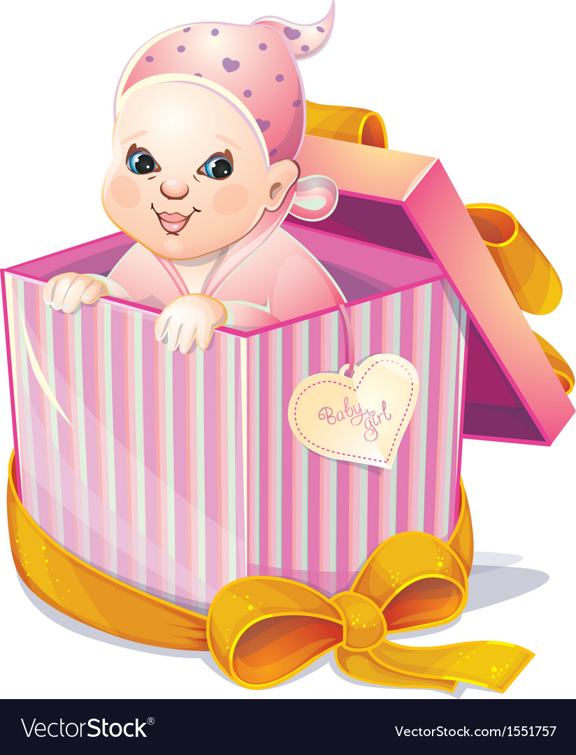 Newborn girl vector | Price: 1 Credit (USD $1)