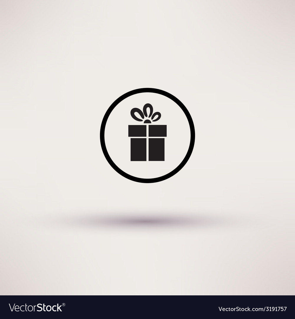 Pictograph of gift icon template for design vector | Price: 1 Credit (USD $1)
