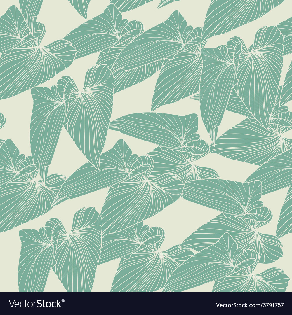 Seamless abstract background with leaves vector | Price: 1 Credit (USD $1)