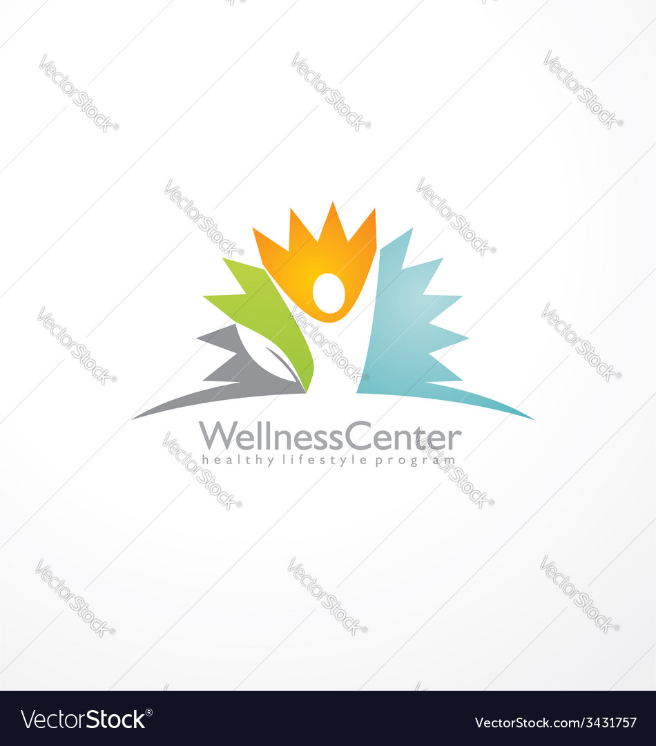 Wellness center logo design concept vector | Price: 1 Credit (USD $1)