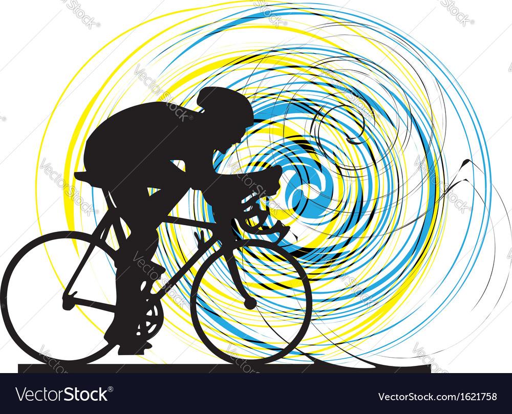 Biker in action vector | Price: 1 Credit (USD $1)