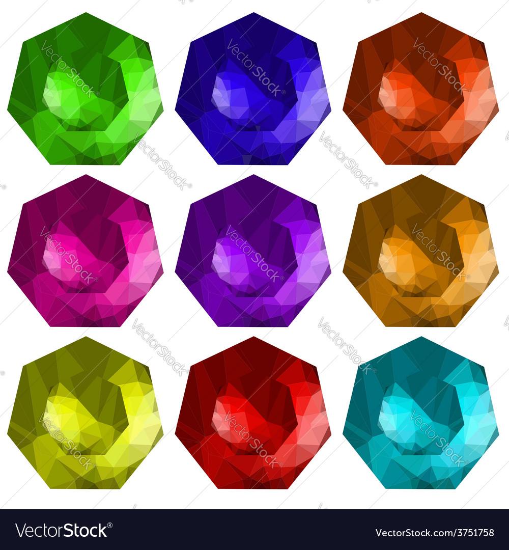 Brilliant cut gems vector   Price: 1 Credit (USD $1)