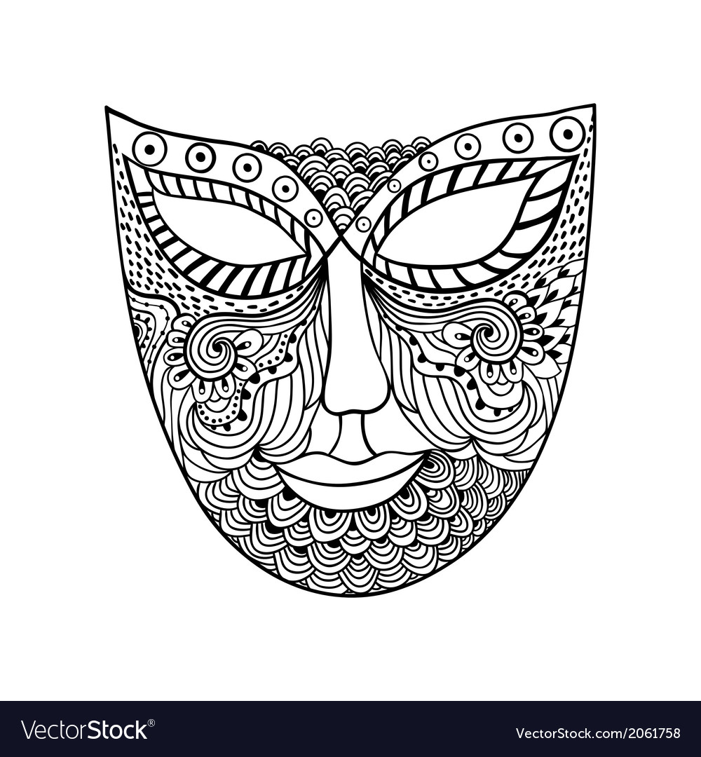 Carnival mask mask stylization vector | Price: 1 Credit (USD $1)