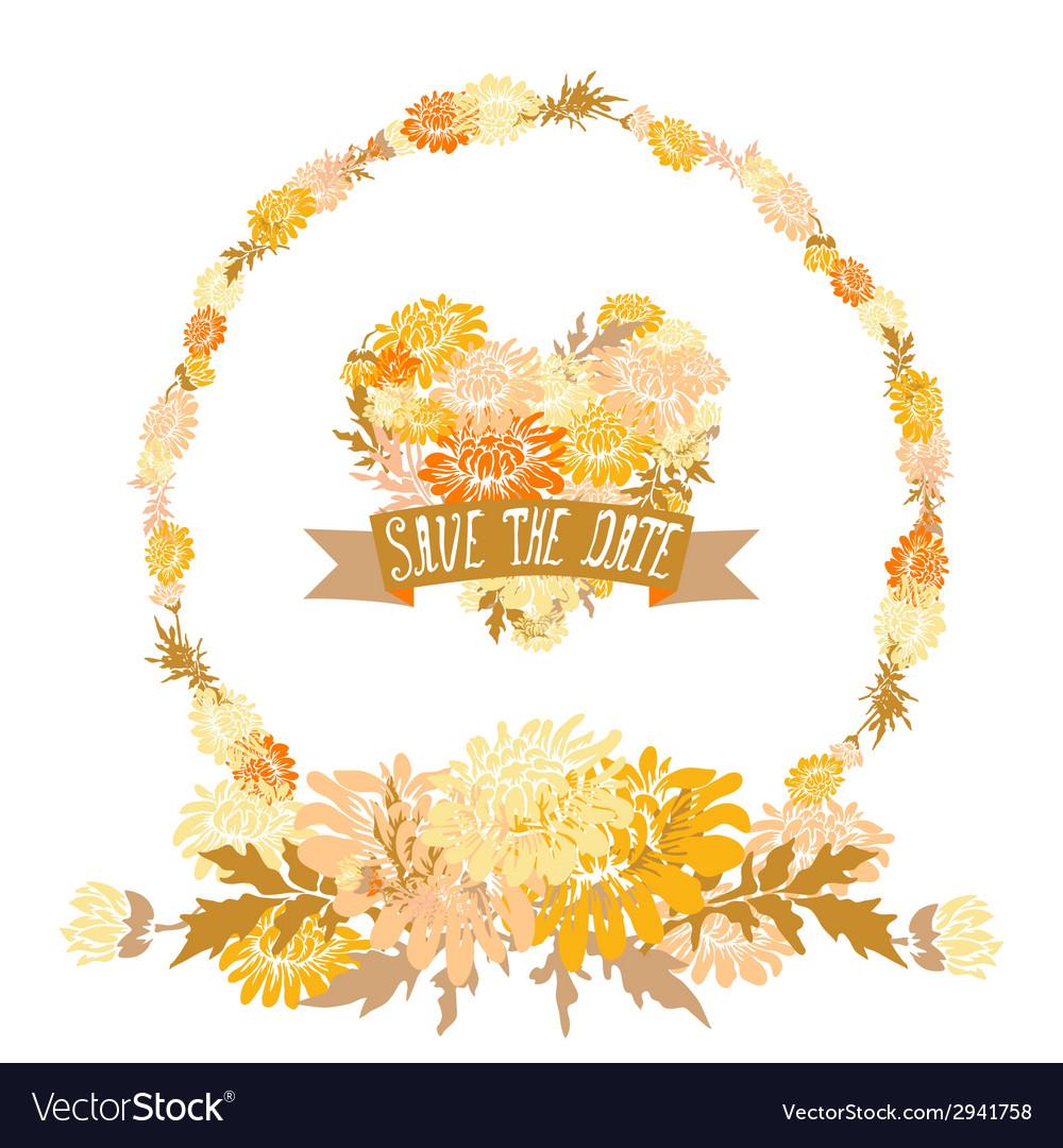 Floral frame vector | Price: 1 Credit (USD $1)