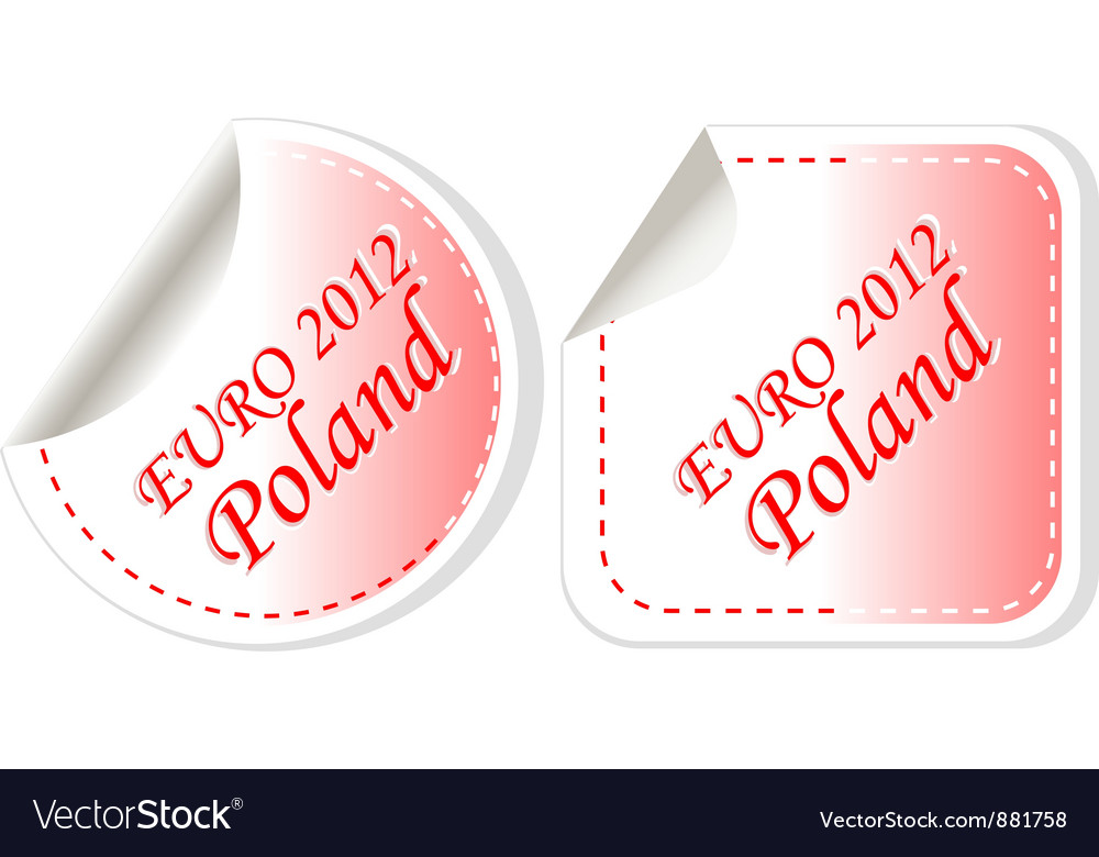 Poland euro flag vector | Price: 1 Credit (USD $1)