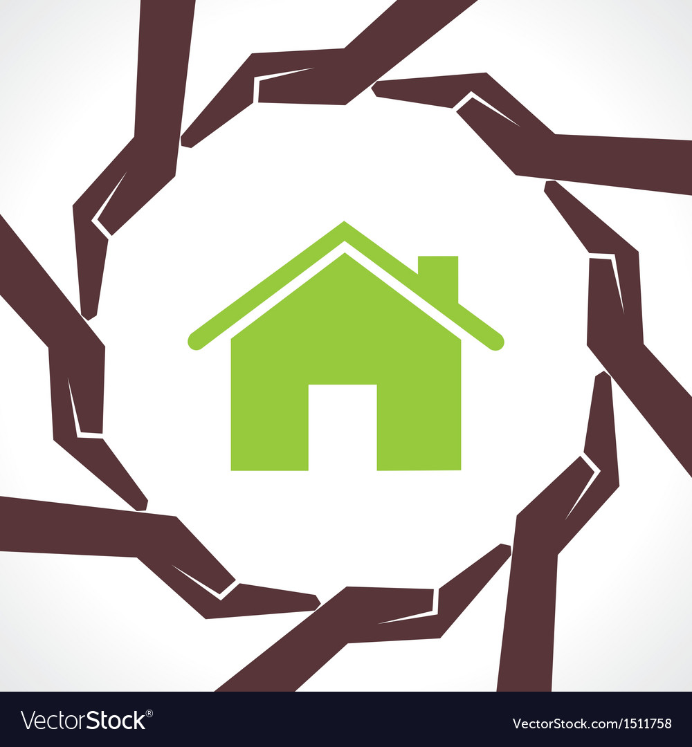 Protect home concept vector | Price: 1 Credit (USD $1)