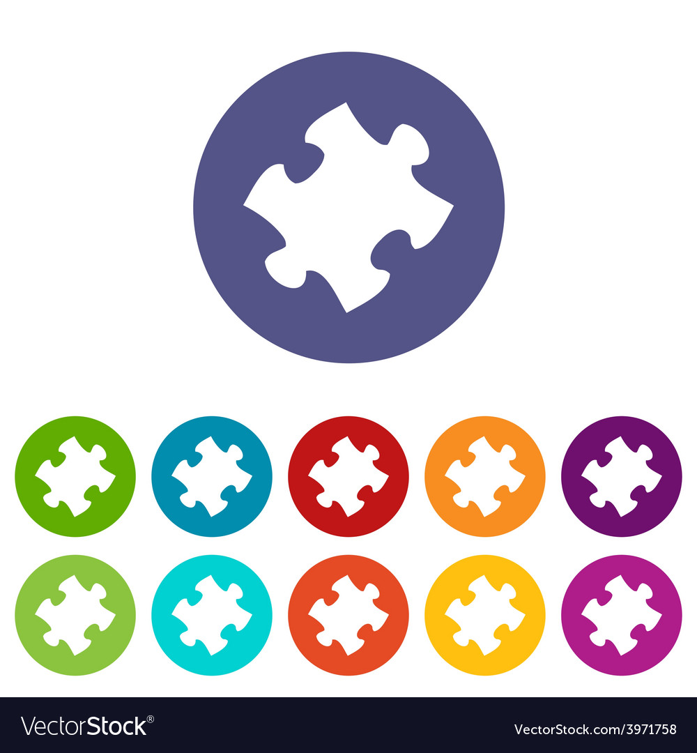 Puzzle flat icon vector | Price: 1 Credit (USD $1)