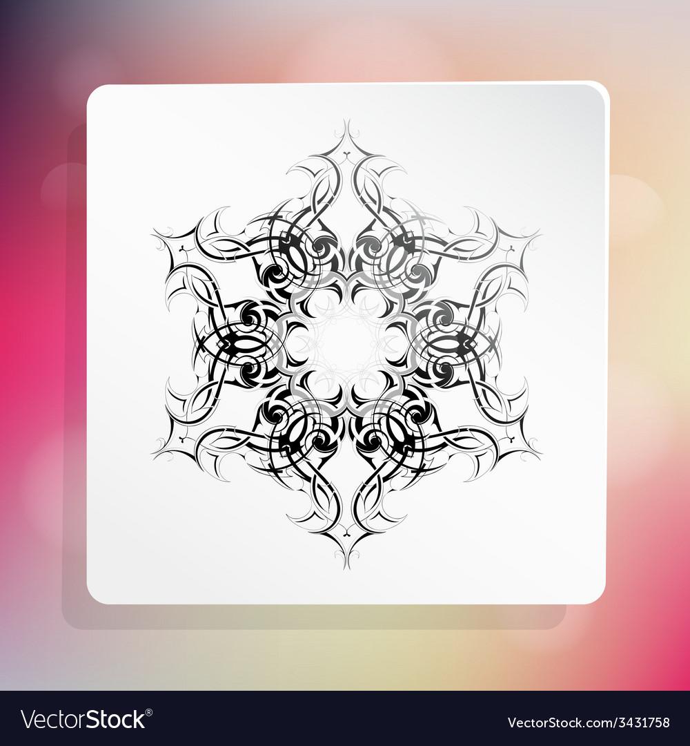 Snowflake as design element vector | Price: 1 Credit (USD $1)