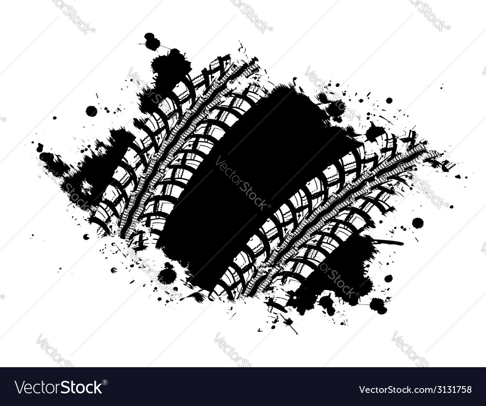 Tire track background vector | Price: 1 Credit (USD $1)