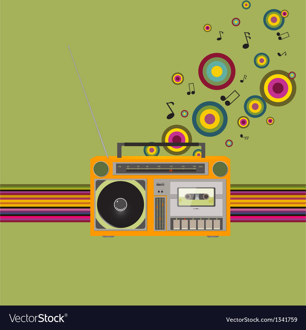 Cassette recorder vector | Price: 1 Credit (USD $1)