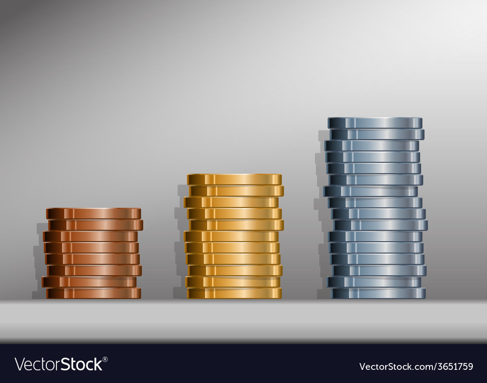 Coin stacks with background vector | Price: 1 Credit (USD $1)