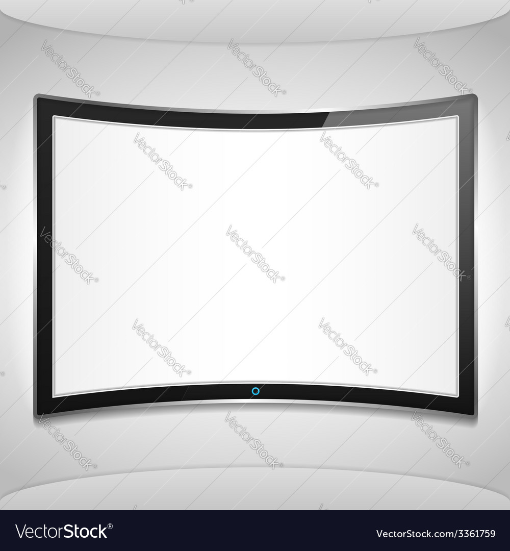 Curved screen vector | Price: 1 Credit (USD $1)