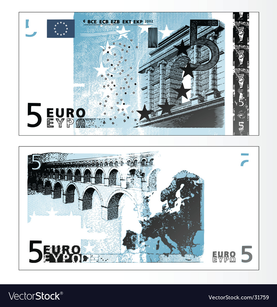 Euro 50 banknote vector | Price: 1 Credit (USD $1)