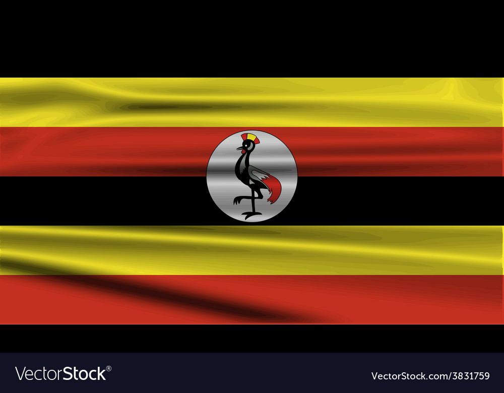 Flag of uganda with old texture vector | Price: 1 Credit (USD $1)