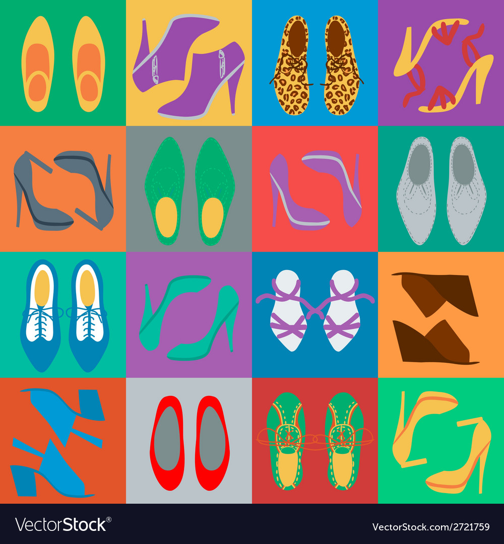 Mens and womens shoes vector | Price: 1 Credit (USD $1)