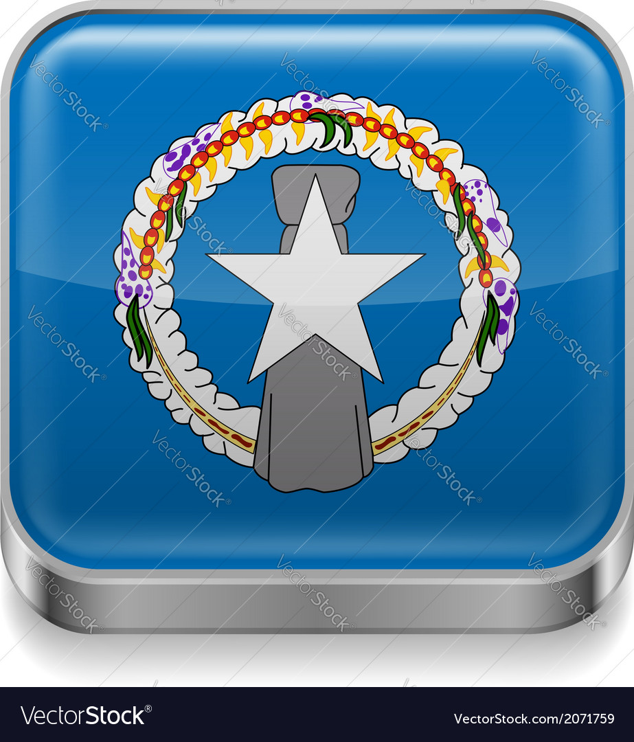 Metal icon of northern mariana islands vector | Price: 1 Credit (USD $1)