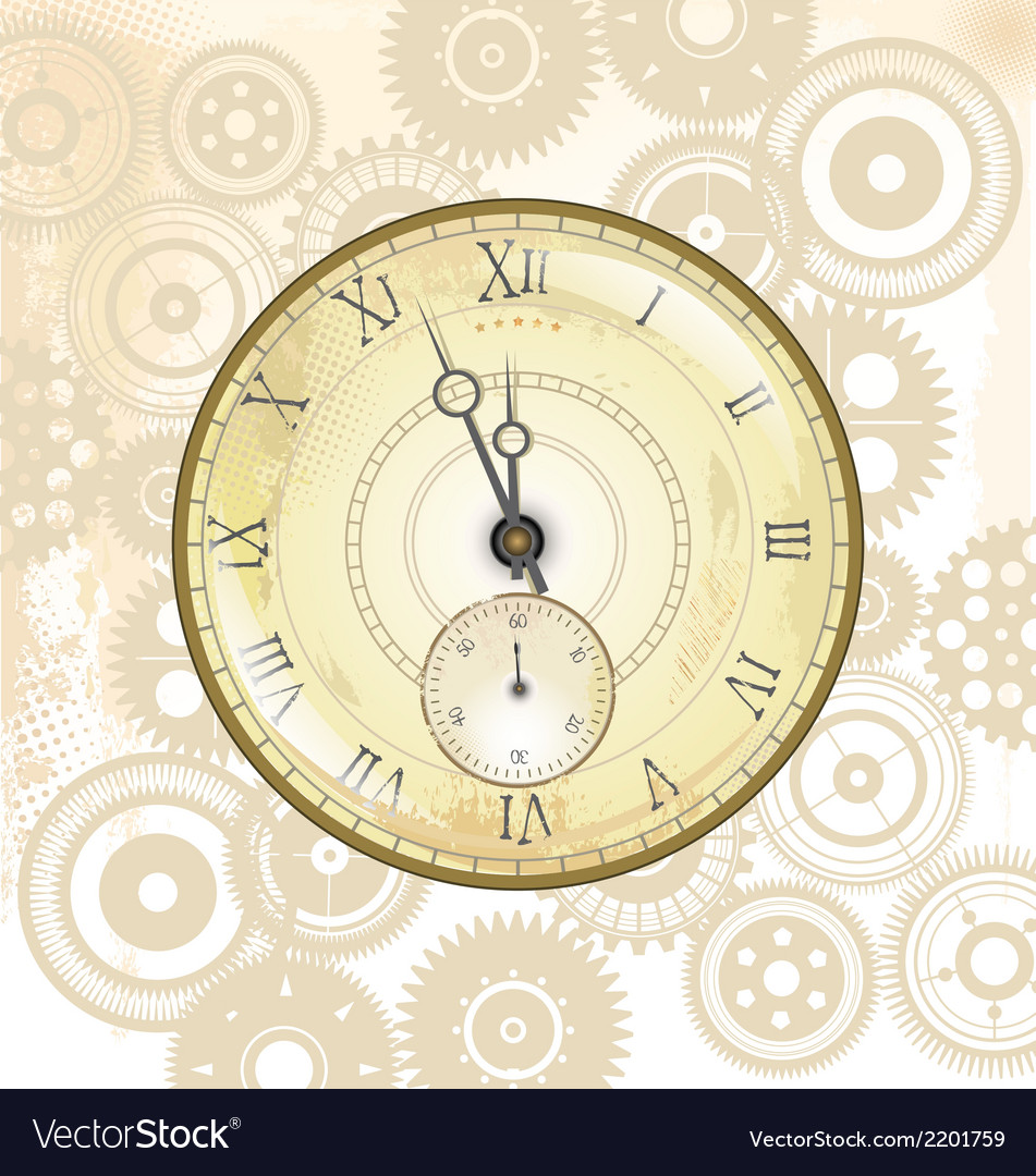 Old watch background vector | Price: 1 Credit (USD $1)