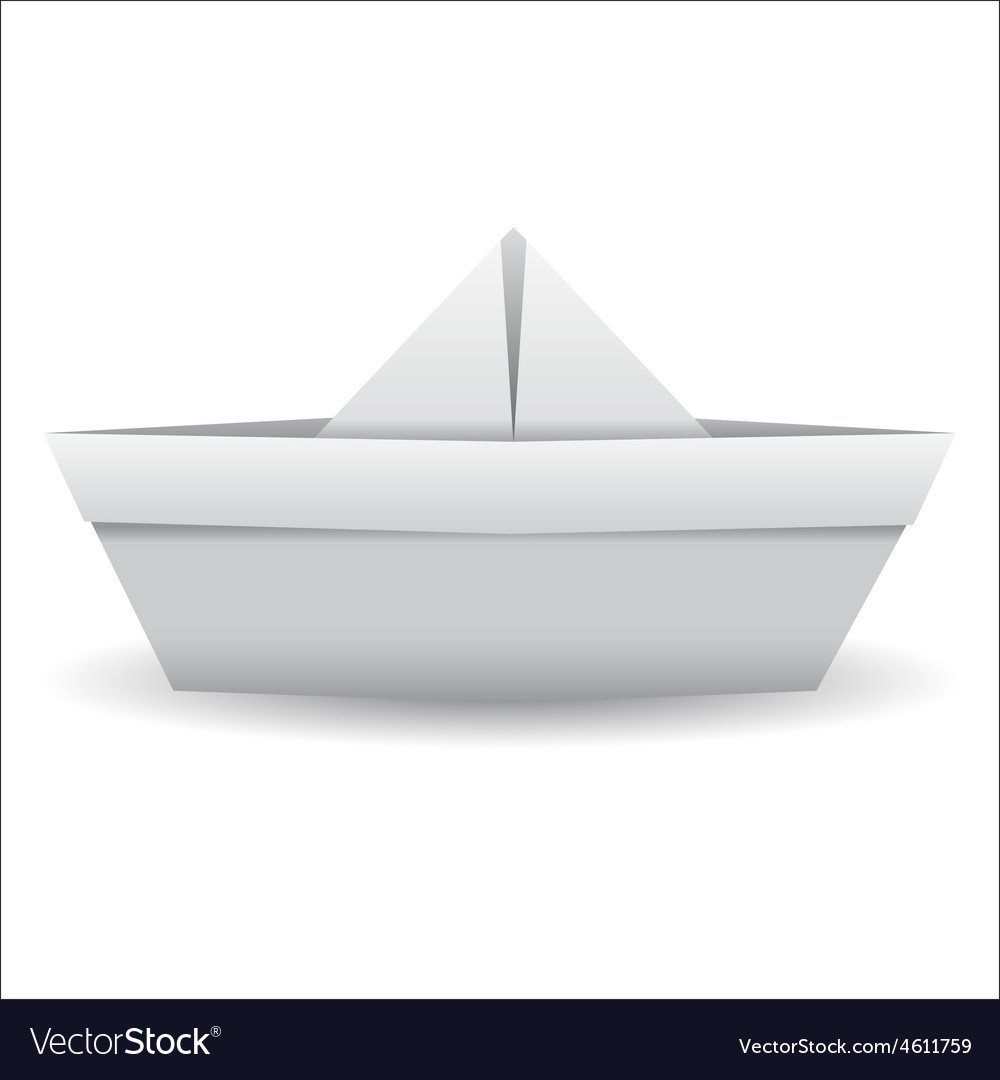 Origami paper ship isolated on white background vector | Price: 1 Credit (USD $1)