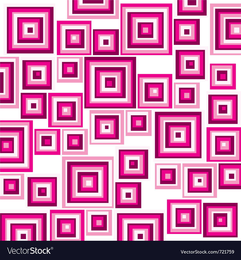 Pink suqares pattern background vector | Price: 1 Credit (USD $1)