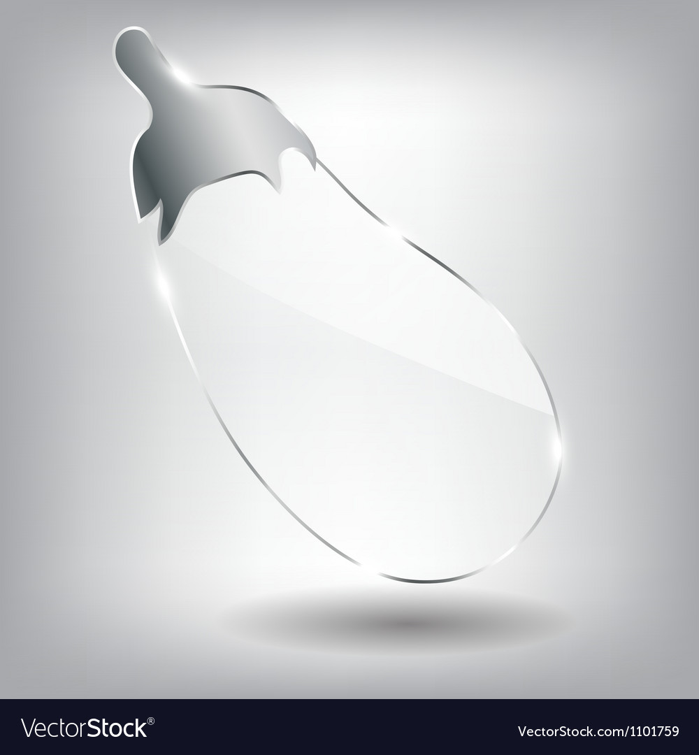 Realistic glass eggplant vector | Price: 1 Credit (USD $1)