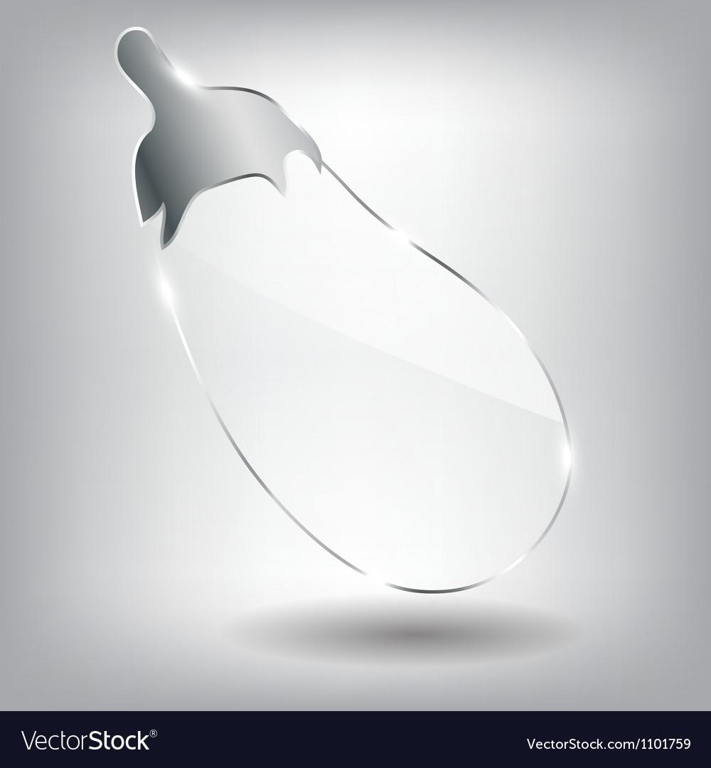 Realistic glass eggplant vector | Price: 1 Credit (USD $1)