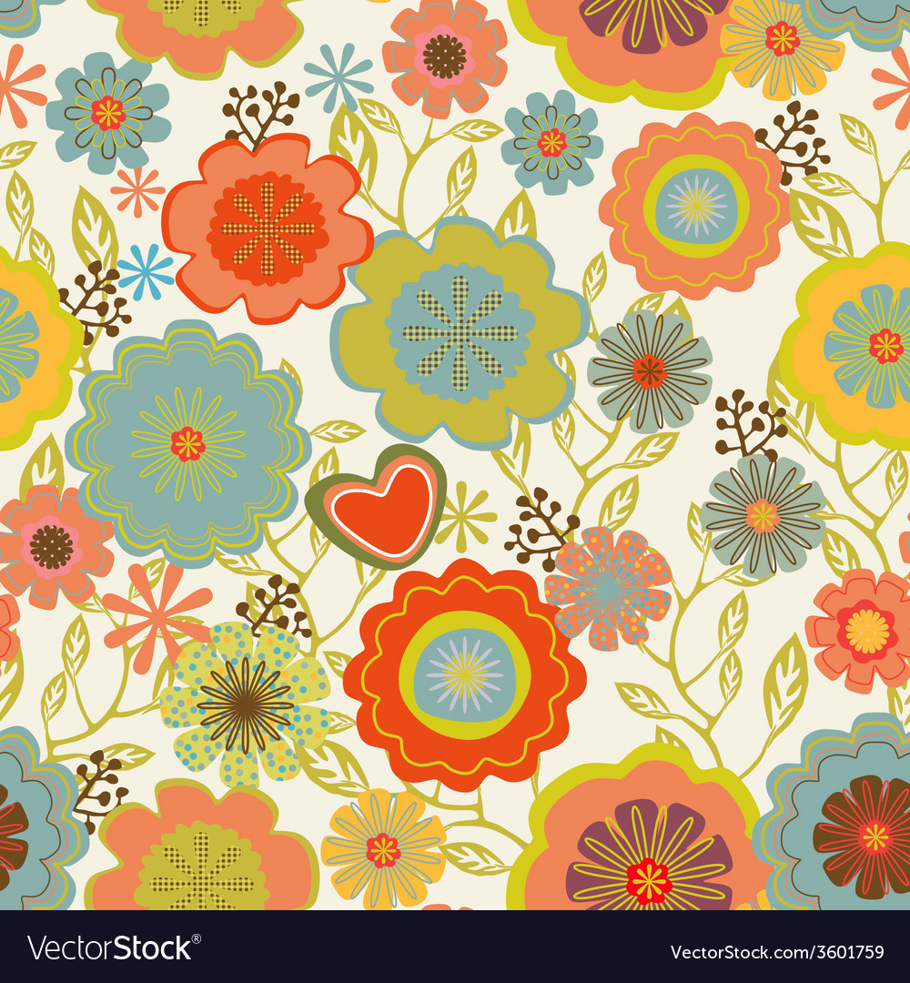 Seamless vintage pattern vector | Price: 1 Credit (USD $1)