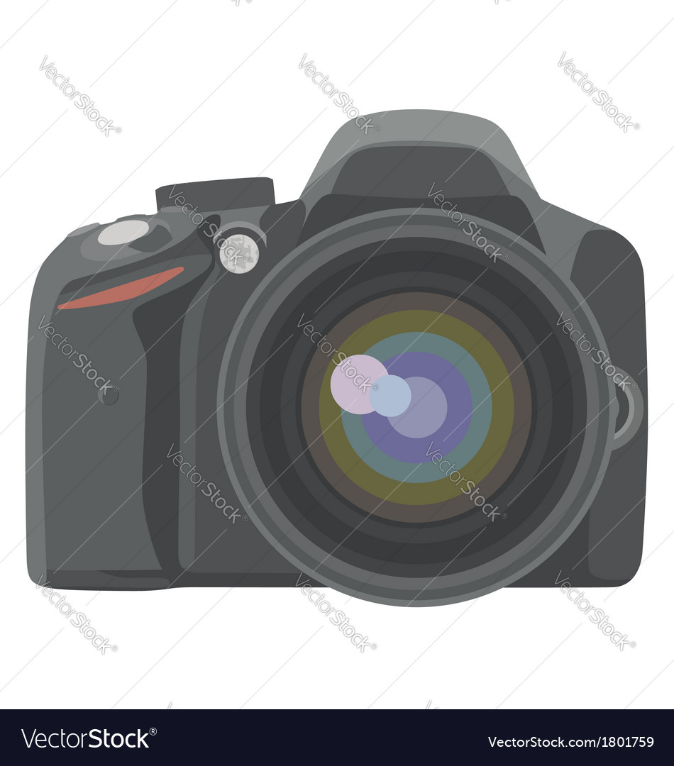 Slr photo camera vector | Price: 1 Credit (USD $1)