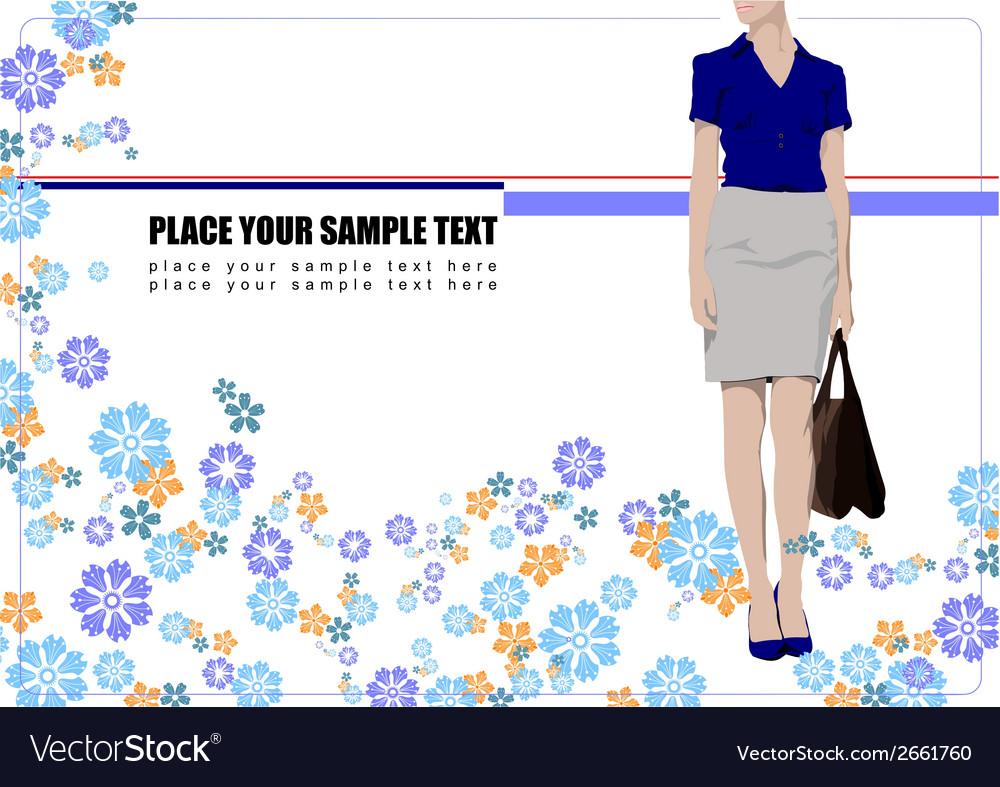 Al 0524 girl 02 vector | Price: 1 Credit (USD $1)