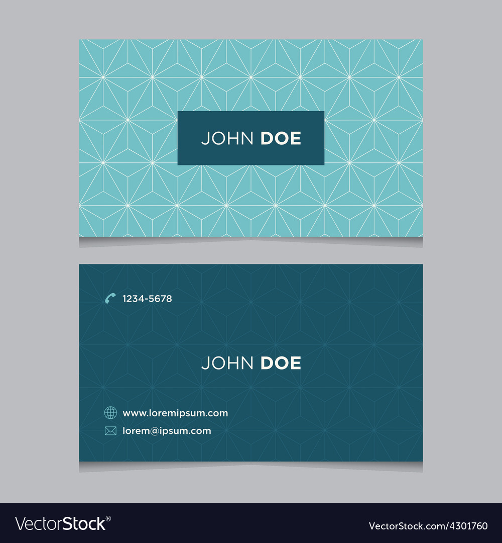 Business card pattern blue 12 vector | Price: 1 Credit (USD $1)