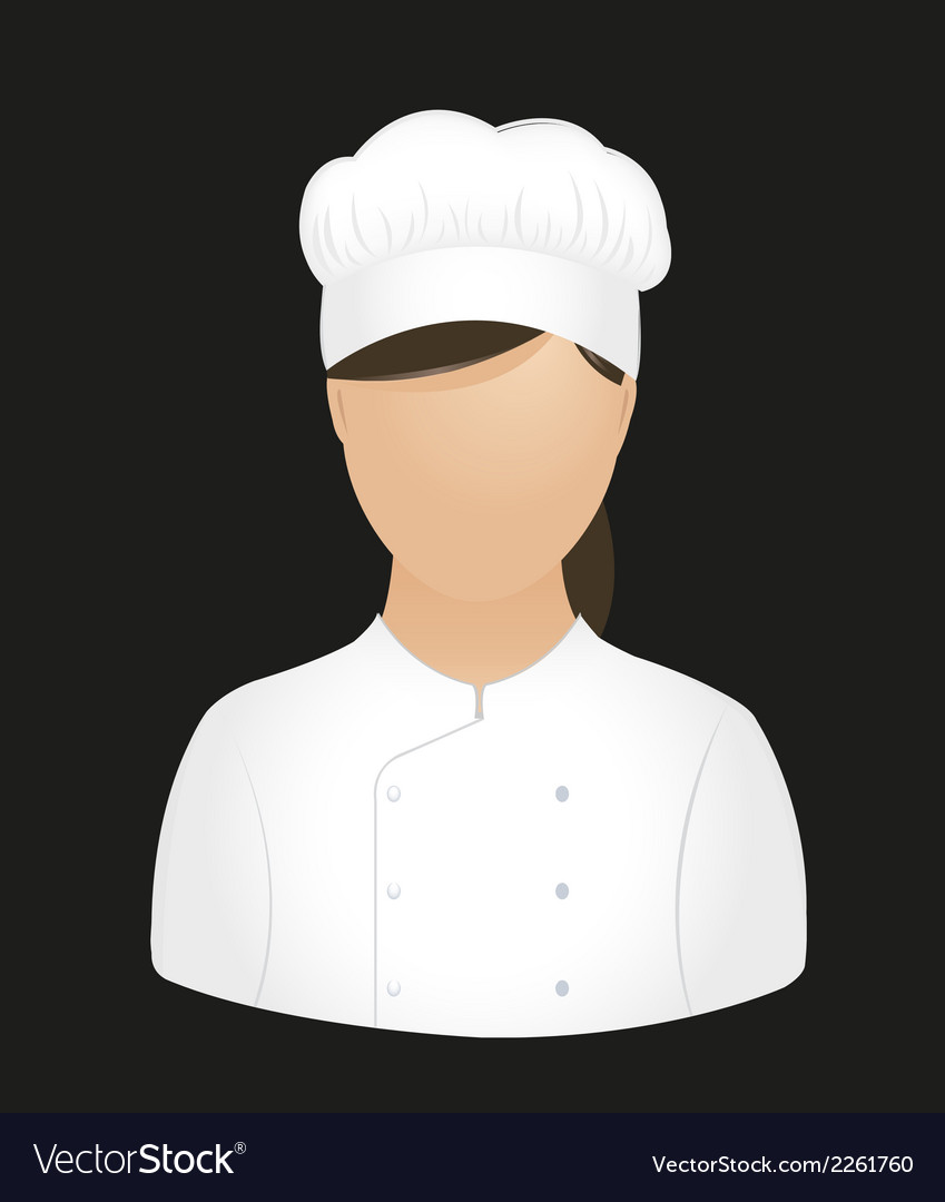 Chef girl vector | Price: 1 Credit (USD $1)