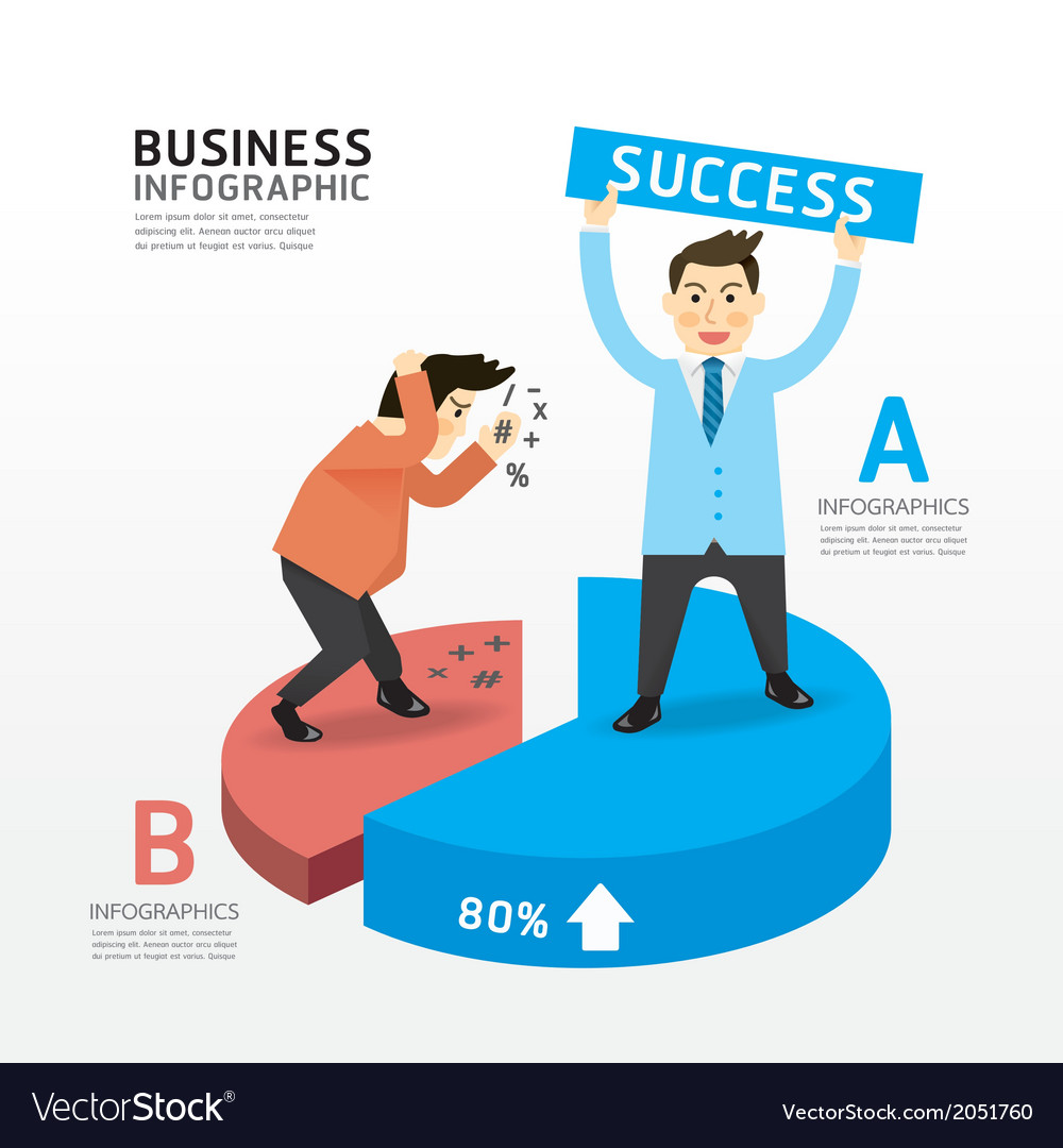 Concept of successful businessman cartoon vector | Price: 1 Credit (USD $1)