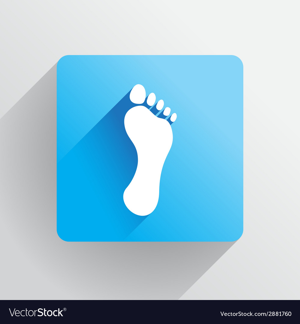 Human footprint vector | Price: 1 Credit (USD $1)
