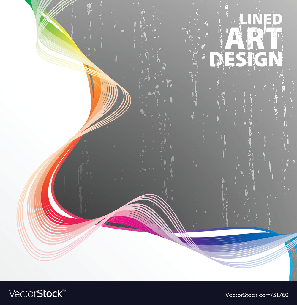 Lined art rainbow flow vector | Price: 1 Credit (USD $1)