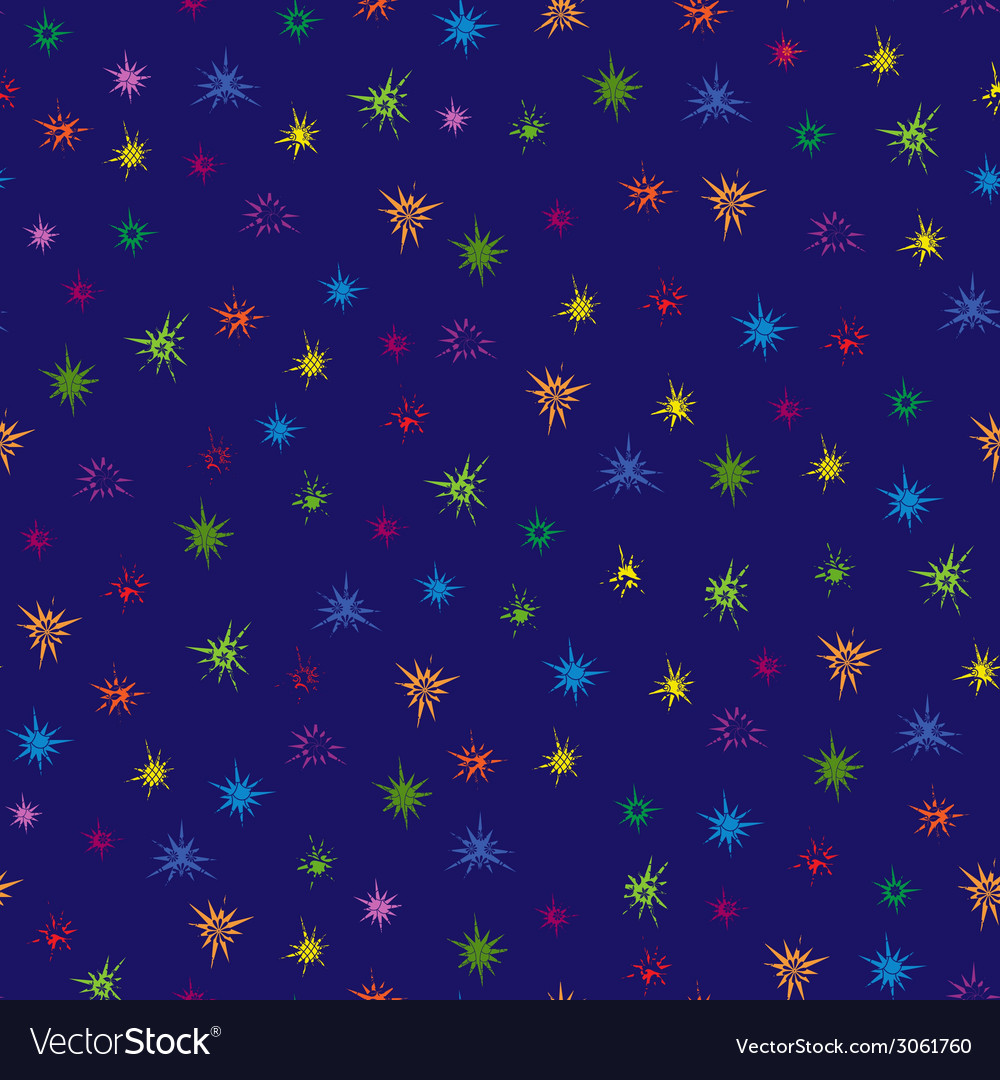 Multicolour stars seamless pattern vector | Price: 1 Credit (USD $1)