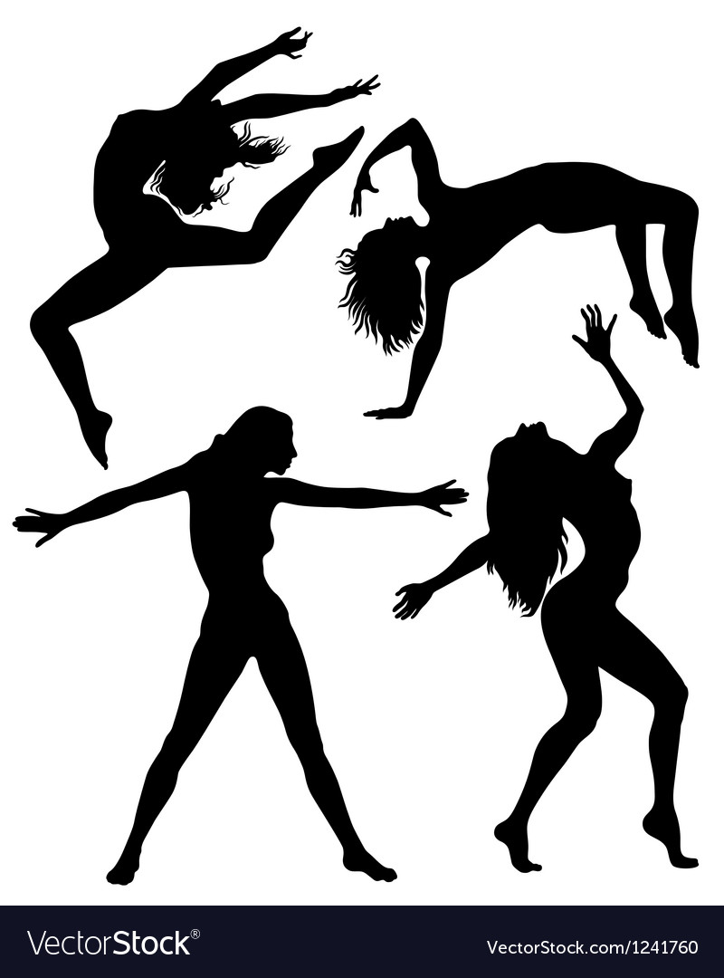 Silhouettes girls vector | Price: 1 Credit (USD $1)