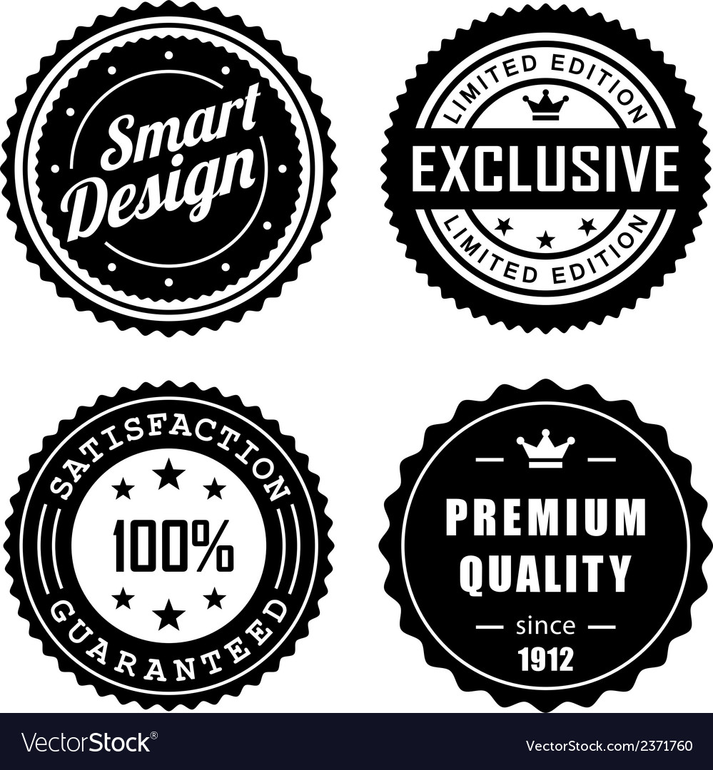 Vintage badges 3 vector | Price: 1 Credit (USD $1)