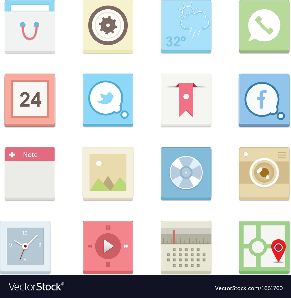 Web icons 16 vector | Price: 1 Credit (USD $1)