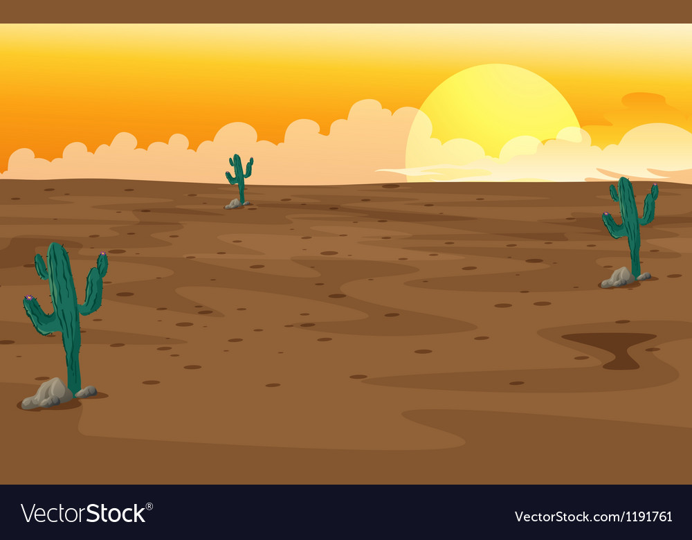 A desert vector | Price: 1 Credit (USD $1)