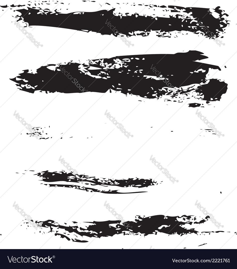 Black brush strokes vector | Price: 1 Credit (USD $1)
