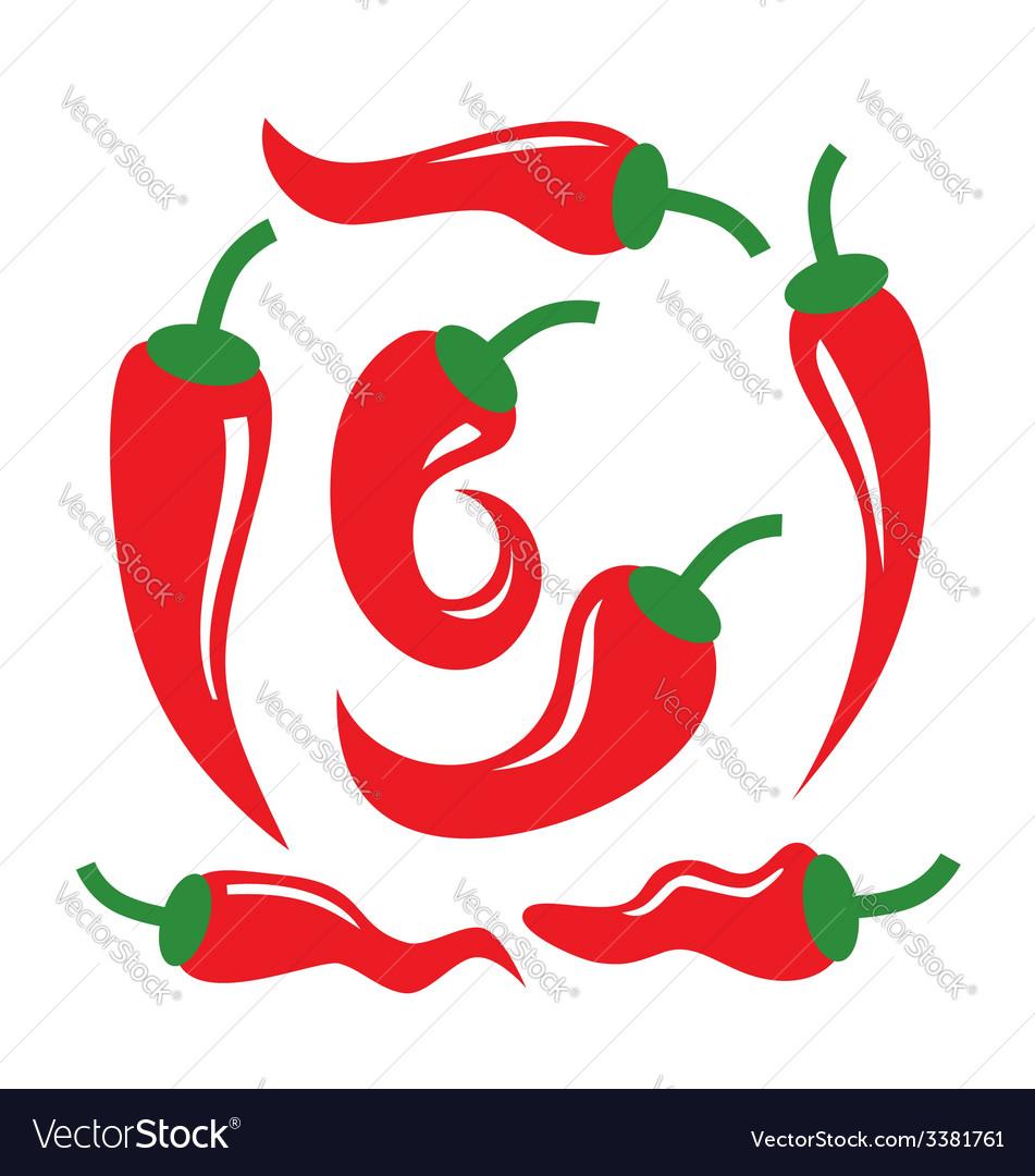 Chili pepper vector | Price: 1 Credit (USD $1)