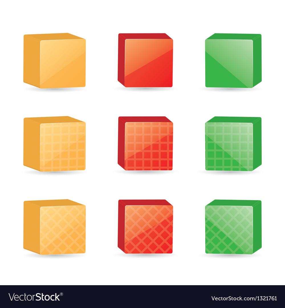 Color cubes vector