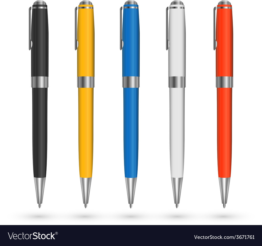 Colored pens vector | Price: 1 Credit (USD $1)