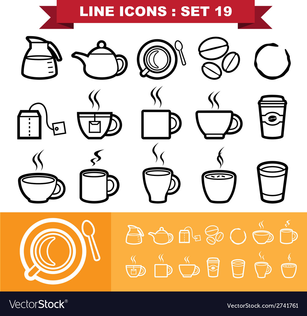 Line icons set 19 vector | Price: 1 Credit (USD $1)