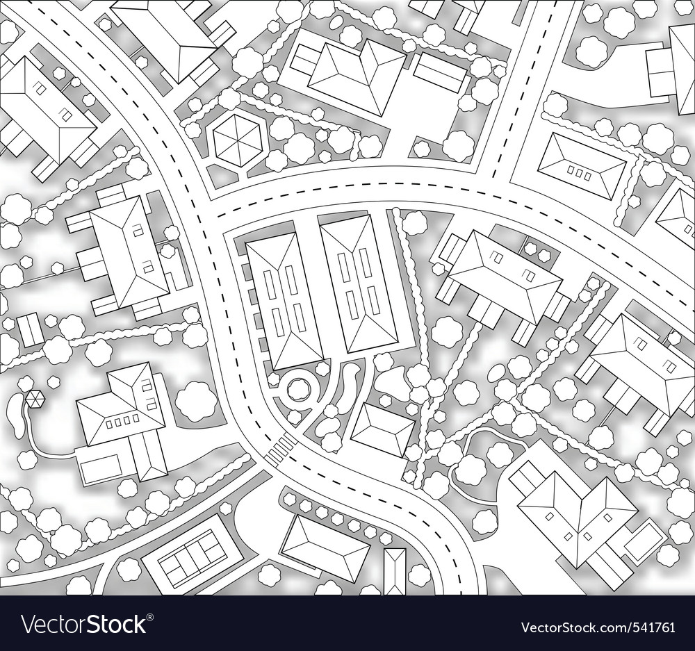 Neighborhood cutout vector | Price: 1 Credit (USD $1)
