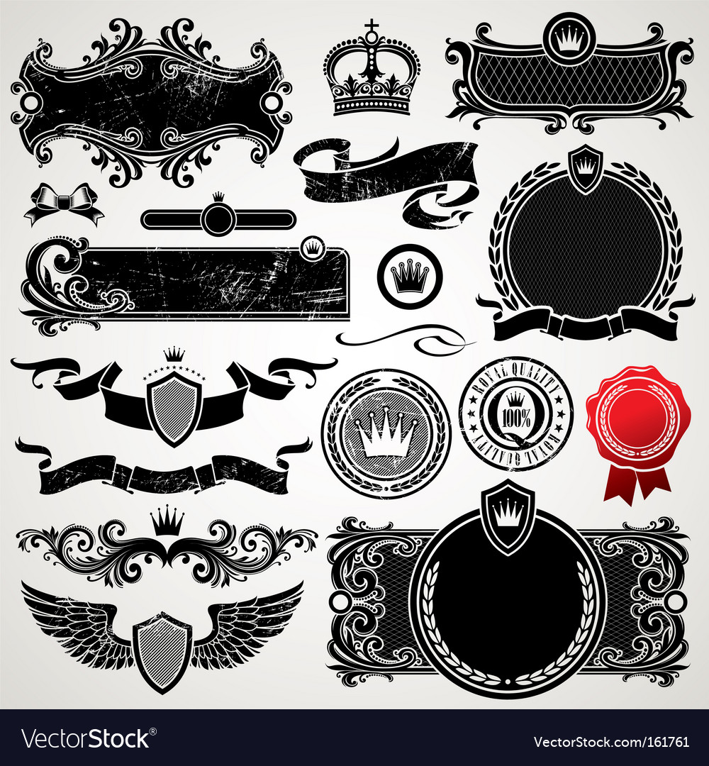 Ornate frames vector | Price: 1 Credit (USD $1)