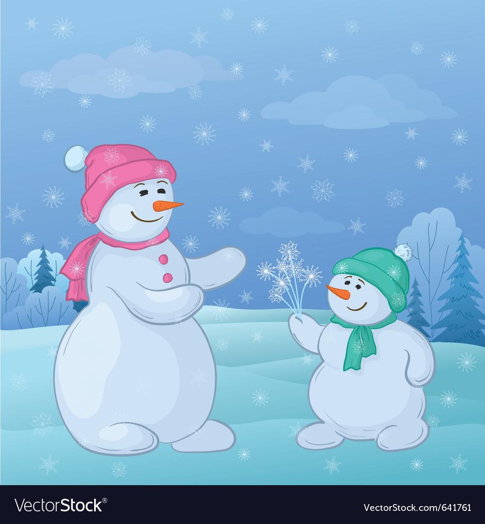 Snowmen vector   Price: 1 Credit (USD $1)