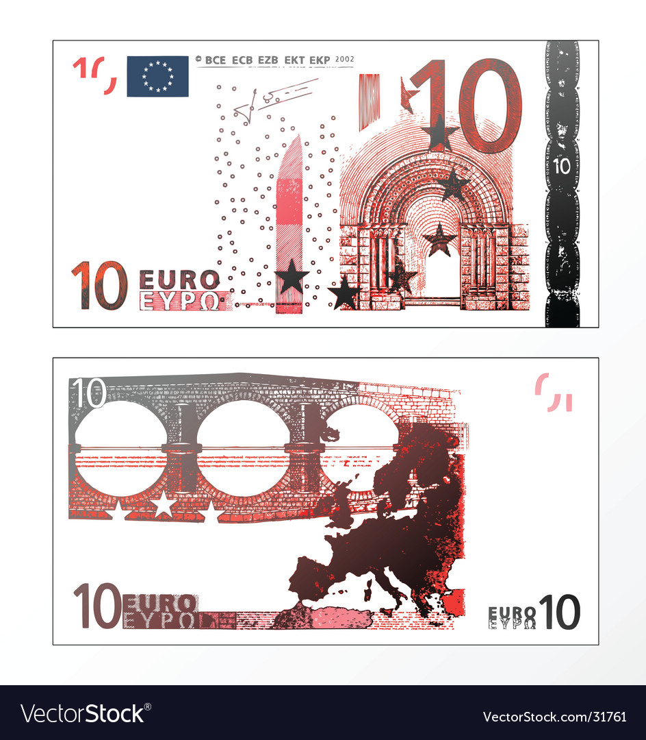 Ten euro grunge trace vector   Price: 1 Credit (USD $1)