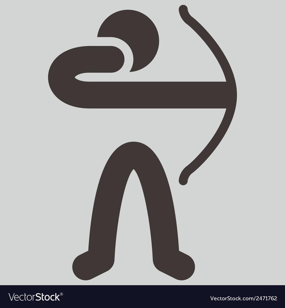 Archery icon vector   Price: 1 Credit (USD $1)