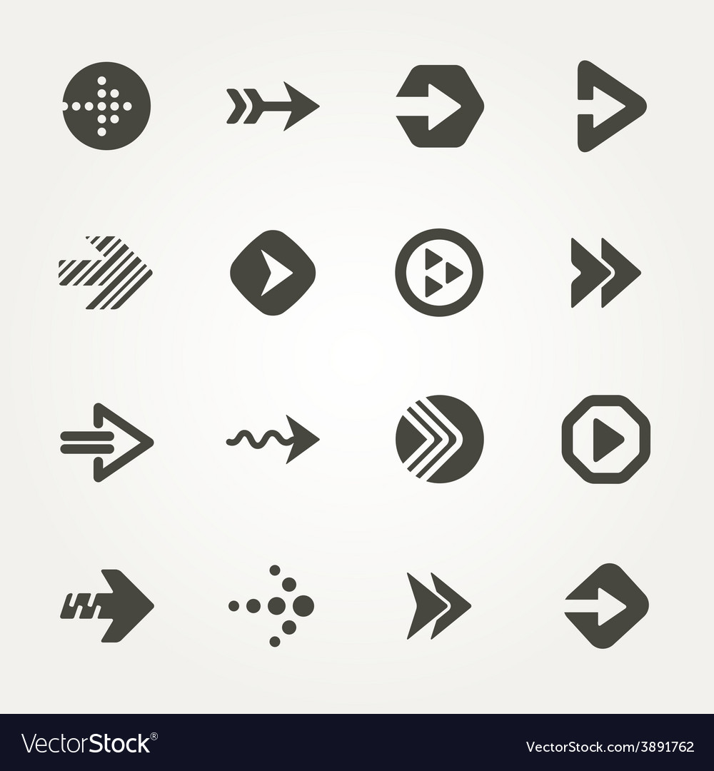 Arrow sign vector | Price: 1 Credit (USD $1)